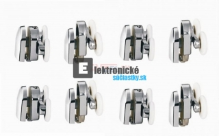 Box - Koliesko dvojite 23mm CHRoM - 8ks SET
